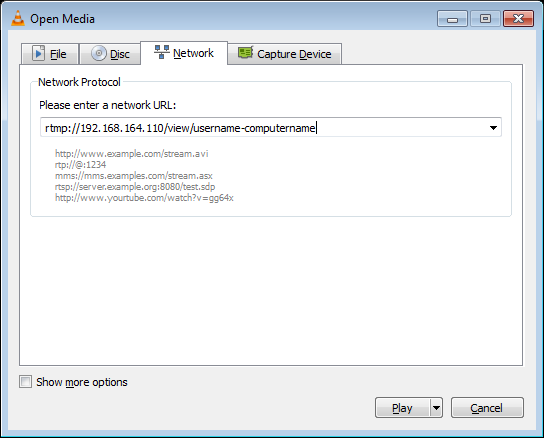 Windows screen recording with FFmpeg UScreenCapture and NGINX RTMP